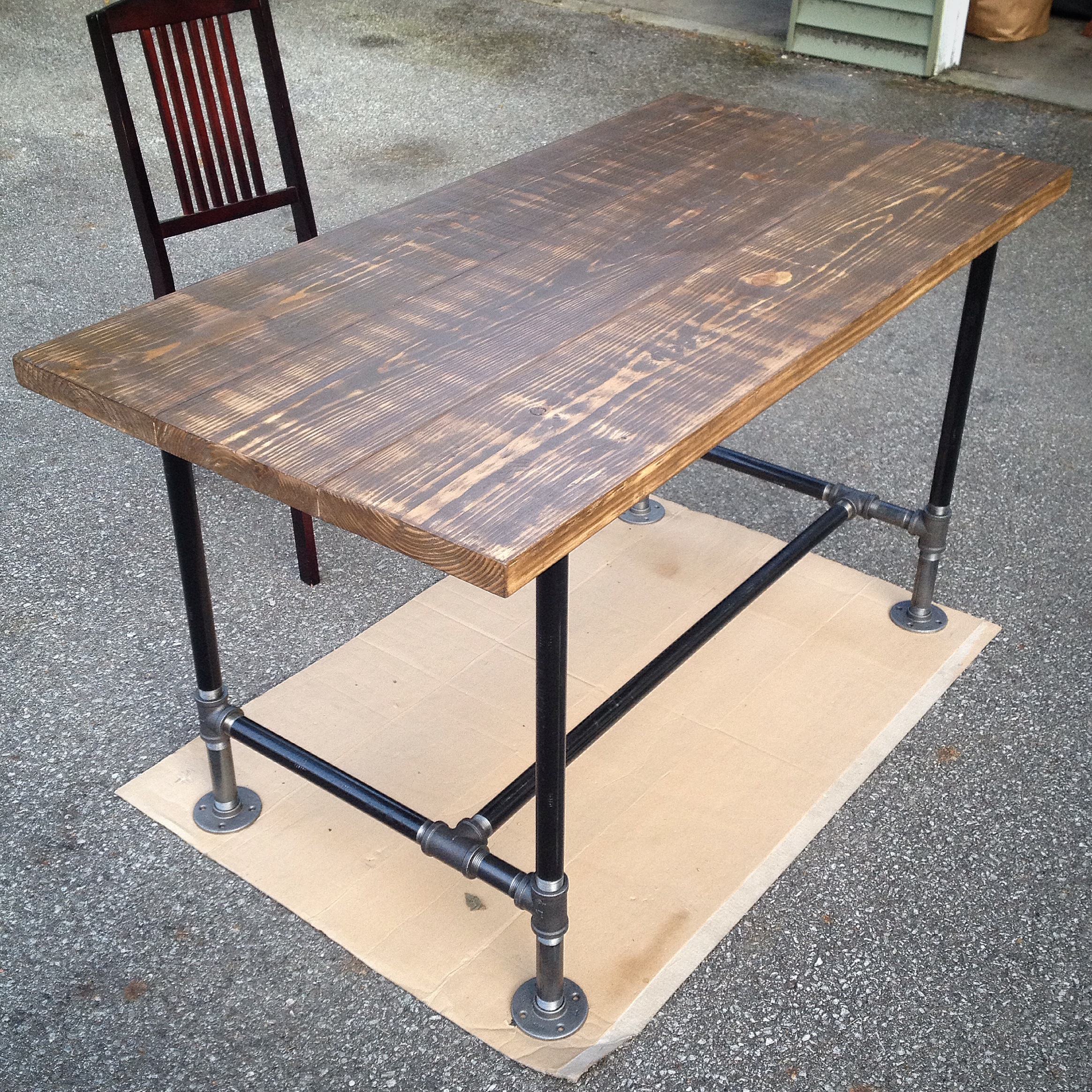 Galvanized Pipe Desk | galleryhip.com - The Hippest Galleries!