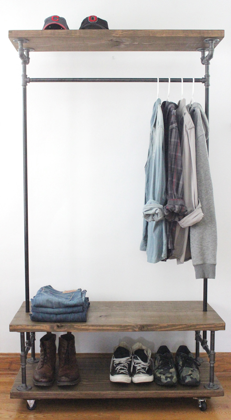 PipesandWood Clothing Rack